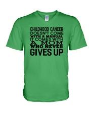 For Childhood Cancer Moms V-Neck T-Shirt thumbnail