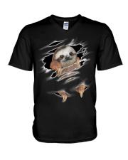 Sloth Scratch V-Neck T-Shirt thumbnail