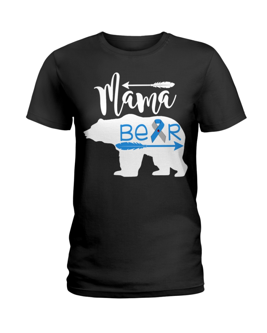 Type One Diabetes Mama Bear Ladies T-Shirt