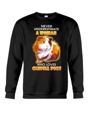 Never Underestimate A Woman Who Loves Guinea Pigs Crewneck Sweatshirt thumbnail