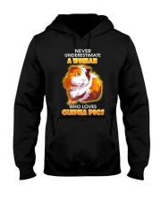 Never Underestimate A Woman Who Loves Guinea Pigs Hooded Sweatshirt thumbnail