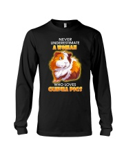 Never Underestimate A Woman Who Loves Guinea Pigs Long Sleeve Tee thumbnail