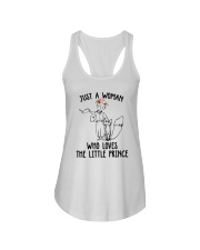 Just A Woman Loves Little Prince Ladies Flowy Tank thumbnail