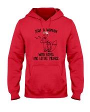 Just A Woman Loves Little Prince Hooded Sweatshirt thumbnail