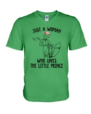 Just A Woman Loves Little Prince V-Neck T-Shirt thumbnail
