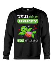 Turtles Make Me Happy Crewneck Sweatshirt thumbnail