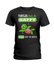 Turtles Make Me Happy Ladies T-Shirt thumbnail