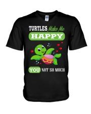 Turtles Make Me Happy V-Neck T-Shirt thumbnail
