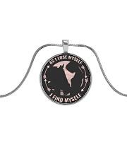 As I Love Myself Metallic Circle Necklace front