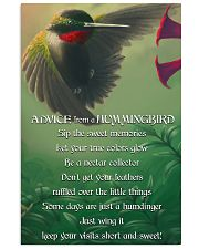 Advice From A Hummingbird 11x17 Poster front