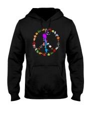 Peace Love And Mermaid Hooded Sweatshirt thumbnail