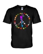 Peace Love And Mermaid V-Neck T-Shirt thumbnail