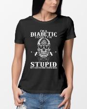 Diabetic Can't Fix Stupid Ladies T-Shirt lifestyle-women-crewneck-front-10