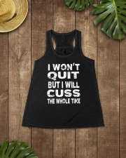 I Won't Quit But I Will Cuss The Whole Time Ladies Flowy Tank lifestyle-bellaflowy-tank-front-6