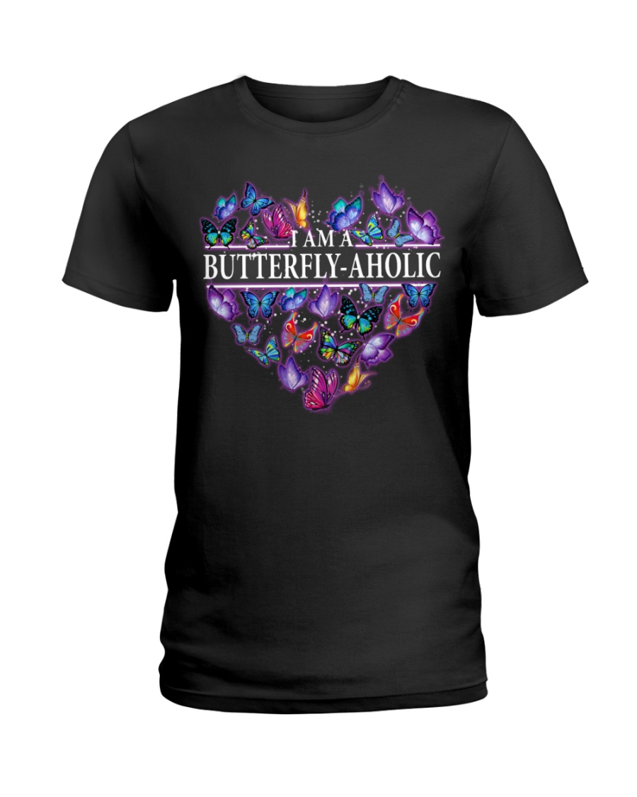 I'm A Butterflyaholic Ladies T-Shirt
