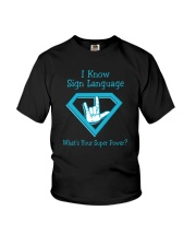 I Know Sign language Youth T-Shirt thumbnail