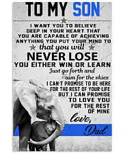 To My Son-Love Dad 11x17 Poster front
