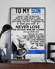 To My Son-Love Dad 11x17 Poster lifestyle-poster-2