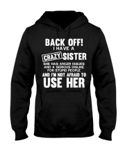 Funny Crazy Little Big Sister Brother Gift Sguvt F Hooded Sweatshirt thumbnail