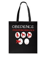 Pwd Obedience Performance Collection Tote Bag thumbnail