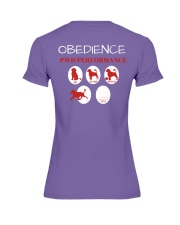 Pwd Obedience Performance Collection Premium Fit Ladies Tee back