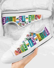 Love Is Love Women's Low Top White Shoes aos-complex-women-white-low-shoes-lifestyle-09