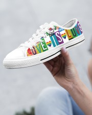 Love Is Love Women's Low Top White Shoes aos-complex-women-white-low-shoes-lifestyle-12
