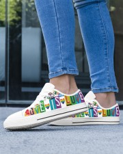Love Is Love Women's Low Top White Shoes aos-complex-women-white-low-shoes-lifestyle-16