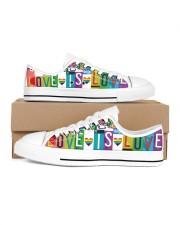 Love Is Love Women's Low Top White Shoes inside-left-outside-left