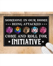 """Come And Roll For Initiative Doormat 22.5"""" x 15""""  aos-doormat-22-5x15-lifestyle-front-05"""