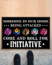 """Come And Roll For Initiative Doormat 22.5"""" x 15""""  aos-doormat-22-5x15-lifestyle-front-10"""