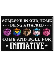 """Come And Roll For Initiative Doormat 22.5"""" x 15""""  front"""