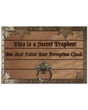 """This is a Secret Trapdoor Doormat 22.5"""" x 15""""  front"""