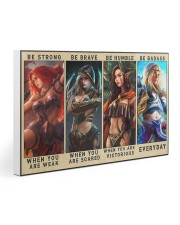 Party of Four Women Be Strong Gallery Wrapped Canvas Prints tile