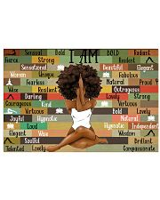 Black Girl With Yoga 17x11 Poster front