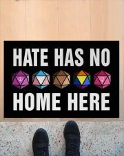 """Hate Has No Home Here Doormat 22.5"""" x 15""""  aos-doormat-22-5x15-lifestyle-front-10"""