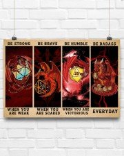 Be Strong Dragons Playing Dice 24x16 Poster aos-poster-landscape-24x16-lifestyle-18