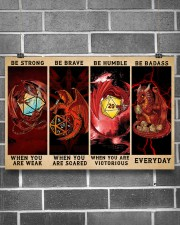 Be Strong Dragons Playing Dice 24x16 Poster aos-poster-landscape-24x16-lifestyle-19