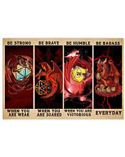 Be Strong Dragons Playing Dice 24x16 Poster front