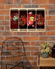 Be Strong Dragons Playing Dice 24x16 Poster poster-landscape-24x16-lifestyle-24