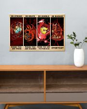 Be Strong Dragons Playing Dice 24x16 Poster poster-landscape-24x16-lifestyle-25