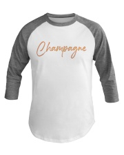 Champagne Campaign Baseball Tee front