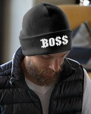 Boss Black Baseball Tee Knit Beanie garment-embroidery-beanie-lifestyle-06