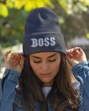 Boss Black Baseball Tee Knit Beanie garment-embroidery-beanie-lifestyle-07