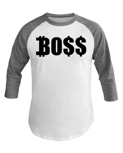 Blk Boss Baseball Tee
