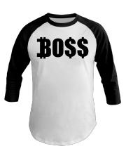 Blk Boss Baseball Tee Baseball Tee front