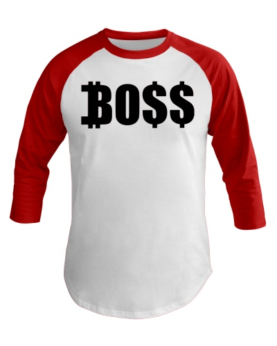 Blk Boss Baseball Tee