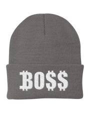 Blk Boss Baseball Tee Knit Beanie front