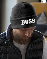 Blk Boss Baseball Tee Knit Beanie garment-embroidery-beanie-lifestyle-06