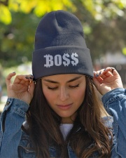 Blk Boss Baseball Tee Knit Beanie garment-embroidery-beanie-lifestyle-07